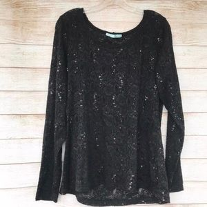 🎉 2 for $20! Maurice's Lace Sequin Top